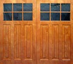 Plantation garage door