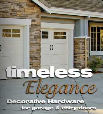 click here to view the hardware catalog - Garage Door Decorative Hardware