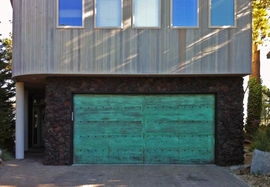 Copper clad door picture & Model T doors\u2014Garage Doors Inc. Custom Wood Garage Doors