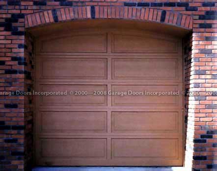 Custom Arched garage door picture & Wood Panel Doors u2014 Garage Doors Inc. Custom Wood Garage Doors pezcame.com